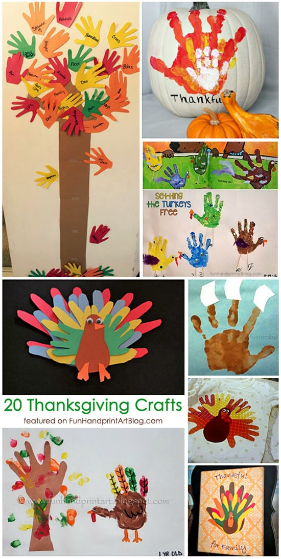20+ Cute Ways to Create Thanksgiving Handprint and Footprint Crafts