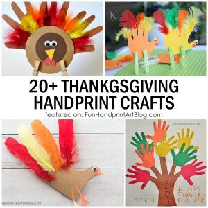 Thanksgiving Handprint and Footprint Turkey Craft Ideas