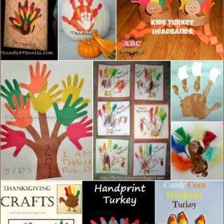 20+ Thanksgiving Handprint & Footprint Crafts