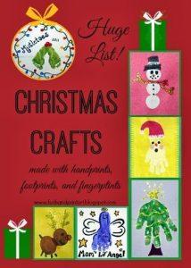 Christmas Handprint Art, Footprint Crafts, and Fingerprint Art - Huge List!