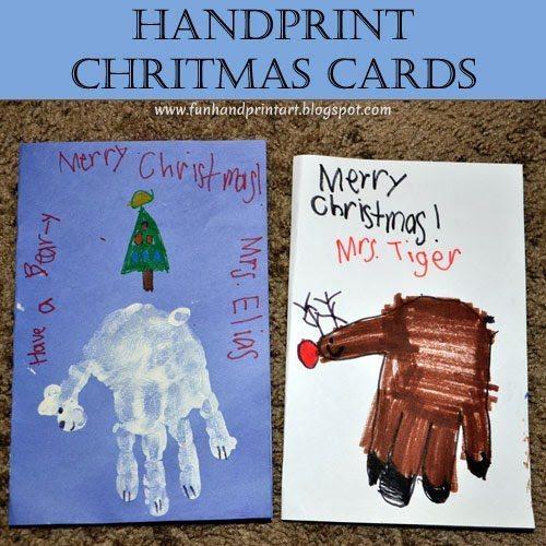 Handprint Christmas Cards