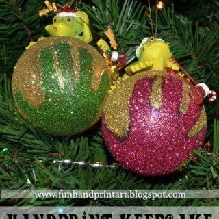 Glitter Handprint Christmas Ornament