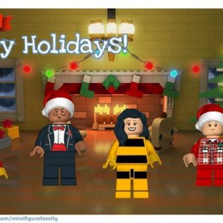 We made a LEGO Minifigure Holiday Card & you can too!