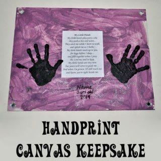 Handprint Poem and Canvas Keepsake