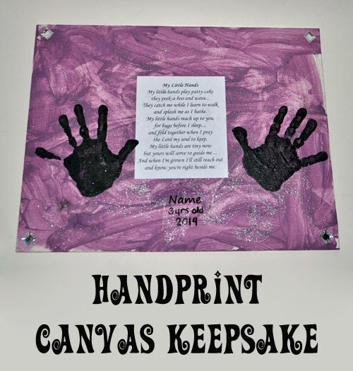Handprint Canvas Keepsake with cute poem