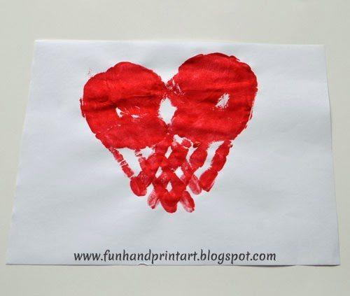 Handprint Heart #valentinesday