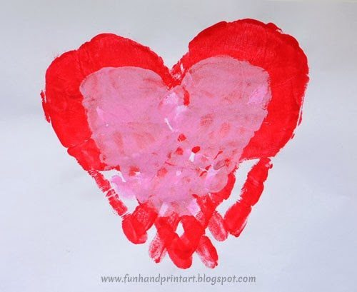 Mommy & Me Handprint Heart