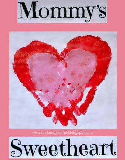 Mommy's Sweetheart Craft to make together using handprints