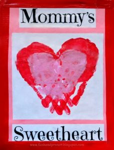 Mommy And Me Handprint Heart Keepsake Craft Idea