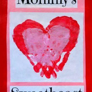 Mommy's Sweetheart Handprint Craft
