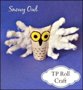 Snowy Owl Handprint Craft for Kids