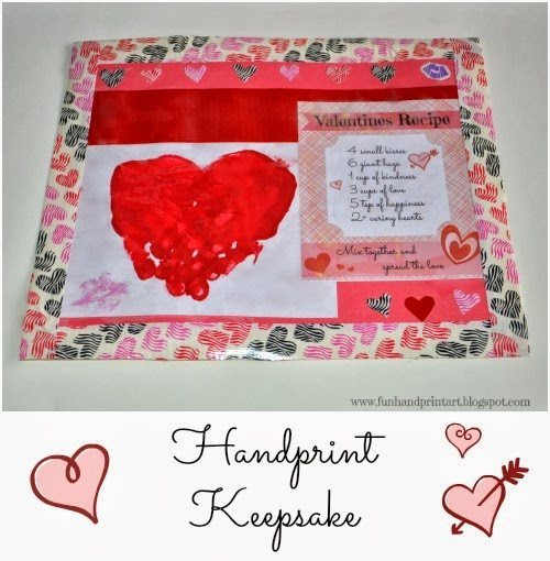 Handprint Heart Valentine's Day Placemat Idea For Kids