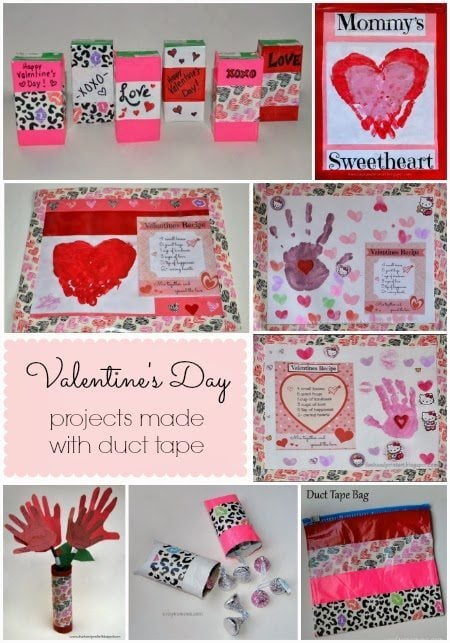 Valentine's Day Duck Tape Crafts For Kids