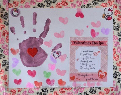 Valentine's Day Handprint Placemat Craft for Kids