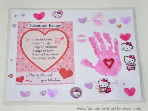 Laminated Valentine's Day Placemat Craft