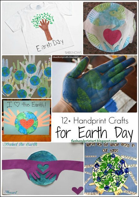 Earth Day Handprint Crafts Collection
