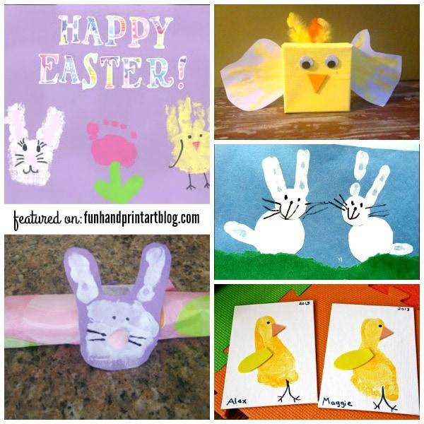 Easter Handprint & Footprint Art Keepsakes