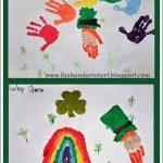 Handprint Rainbow and Leprechaun