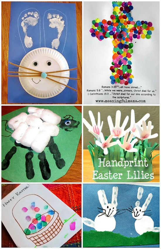 Kids Crafts for Easter made with Hands & Feet