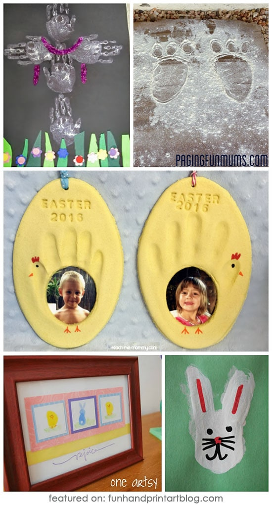 30+ Easter Crafts for kids made with Handprints & Footprints