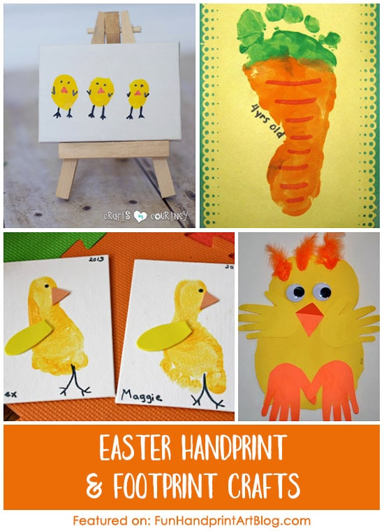 Handprint And Footprint Easter Crafts Huge List Fun Handprint Art