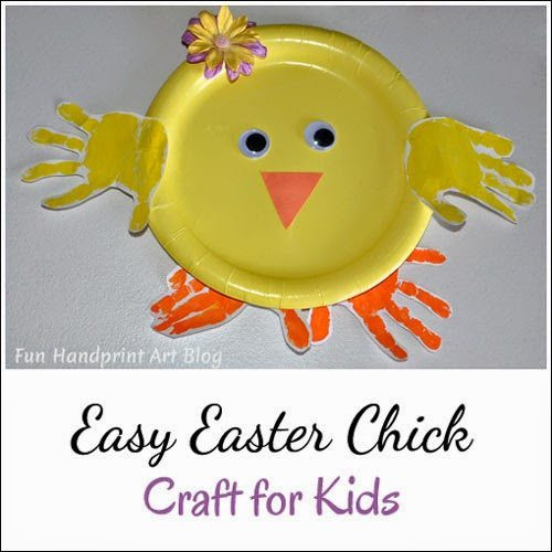 Handprint Chick | Paper Plate Easter Craft
