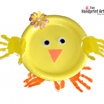 How to make a Paper Plate Handprint Chick for Easter