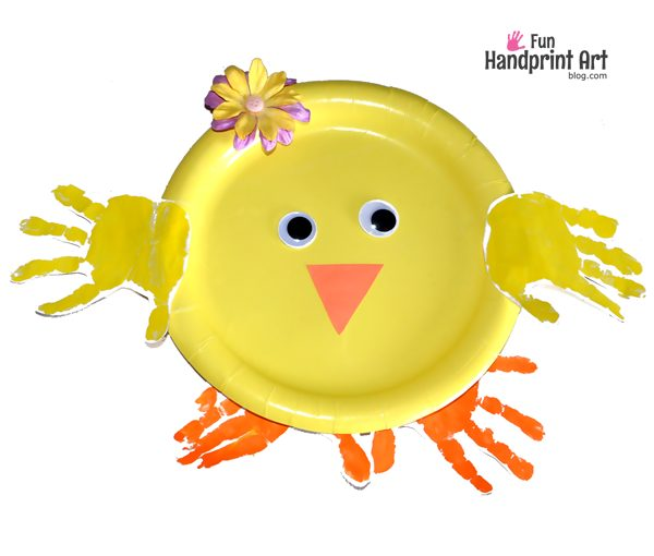 Paper Plate Easter Chick