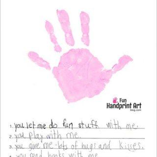 5 Reasons Why I Love You Handprint Craft {Free Printable}