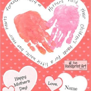 Use this free printable for Mother's Day to make a Handprint Craft