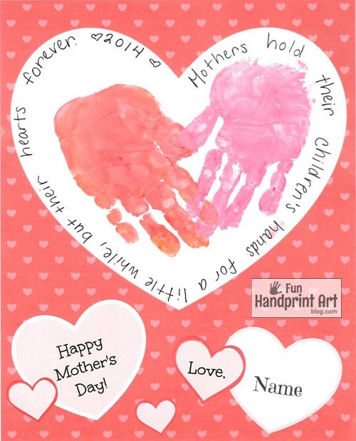 photo relating to Free Printable Mothers Day Crafts named No cost Printable Moms Working day Handprint Craft - Enjoyable Handprint Artwork