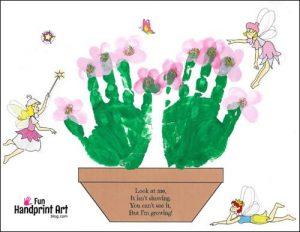 Handprint Flower Pot & Poem for Mother's Day