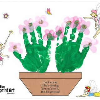 Free Printable Flower Pot Craft for Mother's Day