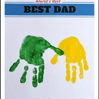 World's Best Dad – Hands Down {Free Printable Craft}