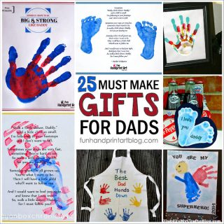 25 Must Make Handprint Gifts for Father's Day