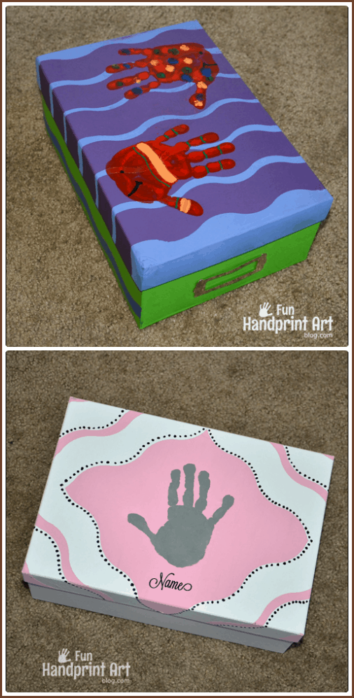 DIY Keepsake Memory Boxes using FrogTape Shape Tape
