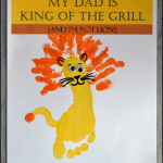 Footprint Lion Father's Day Craft - My Dad is King of the Grill