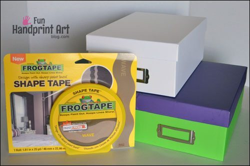 FrogTape Shape Tape Wave Pattern Projects