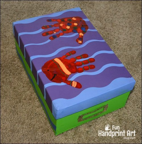 Handprint Fish Keepsake Box for Kids