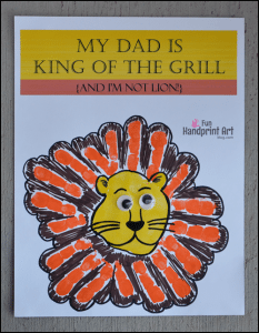 My Dad is King of the Grill Printable Craft {Handprint Lion}