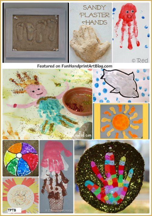 Summer Handprint Art and Sand Keepsakes