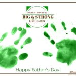 Someday I Hope To Be Big + Strong Like Daddy - Father's Day handprint craft