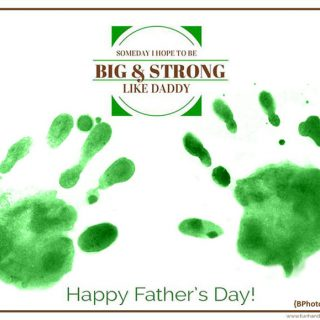 Father's Day Handprint Craft – Big & Strong Like Daddy