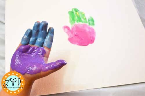 Making a Handprint Ice Cream Cone