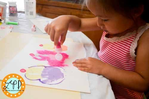 Decorating the Handprint Ice Cream