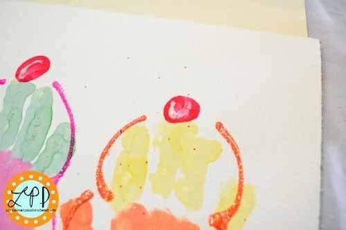 How to make an Ice Cream Handprint Craft