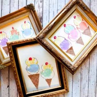 Framed Ice Cream Handprint Craft {Guest Post from A Little Pinch of Perfect}