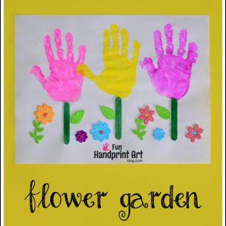 Handprint Flower Garden Craft for Kids
