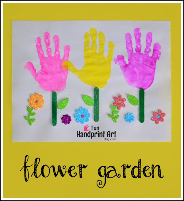 Handprint Flower Garden Craft for Kids