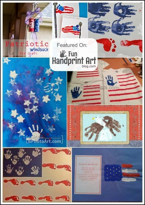 Patriotic Handprint and Footprint Crafts for the 4th of July